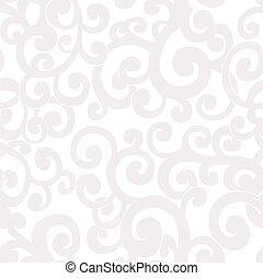 Naheloser abstrakter Hintergrund mit Wirbeln in weißen und Cremefarben.