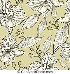 Nahmlose Blumenorchideen.