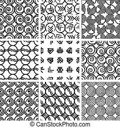 Nahmlose geometrische Muster 4.