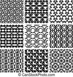 Nahmlose geometrische Muster eingestellt.