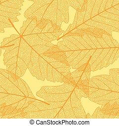 Nahmlose Herbstblätter.