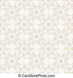 Nahmloses islamisches Muster. Vintage Flora Hintergrund