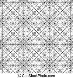 Nahtlose Kunst-Deko-Strahlungsmuster Hintergrund.