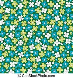 Nahtlose Muster mit stilisierten Blumen, Blumenhintergrund.