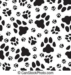 Nahtlose Muster von Katzenspuren.