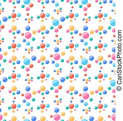 Nahtloses Muster mit bunten Kreisen, Partyhintergrund.