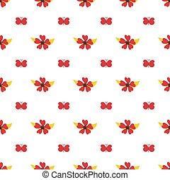 Nahtloses Muster von Schmetterlingen und Blumen.