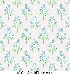 Nahtloses Vektormuster mit blauen Blumen