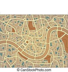 Namelose Stadtkarte