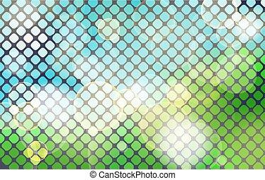 Natürliches Grün abstraktes natürliches horizontales Mosaik.