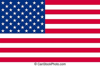 Nationale politische offizielle US-Flagge.
