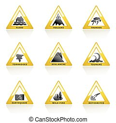naturkatastophe, ikone