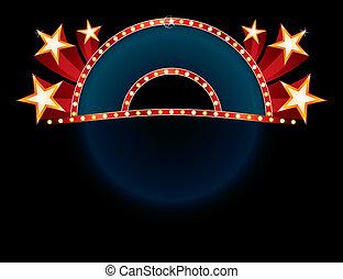 Neon mit Sternen