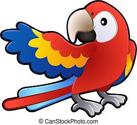 Nette freundliche macaw parrote Illustration