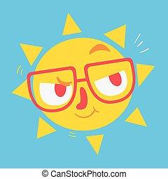 Nette Geek-Sonne denken.