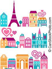 Nette Vektor-Illustration der Städte der Welt