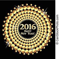 neu , 2016, glücklich, jahr