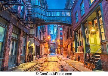 neu , alleyways, york, stadt
