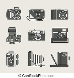 neu , fotoapperat, retro, ikone