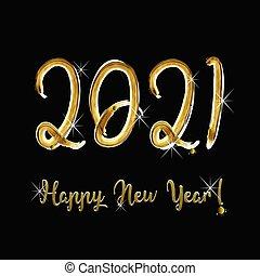 neu , glücklich, jahr, 2021