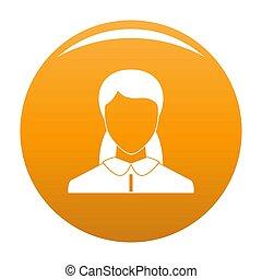 Neue Frau Avatar Ikone Orange