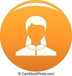 Neue Frau Avatar Ikonen Vektor Orange