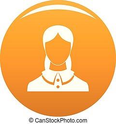 Neue weibliche Avatar Icon Vektor Orange