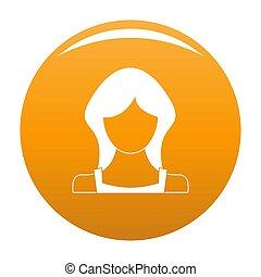 Neue weibliche Benutzer-Ikone orange