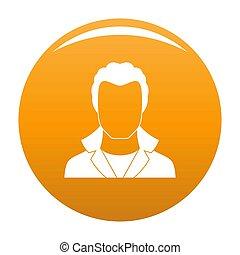 Neuer Mann Avatar Icon Orange