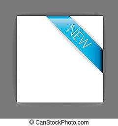 Neues blaues Eckband