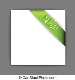 Neues grünes Eckband