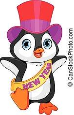 Neujahr, Baby Pinguin.