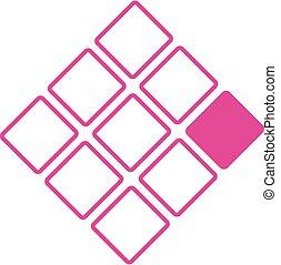 Neun Quadratmeter Geschäftslogos