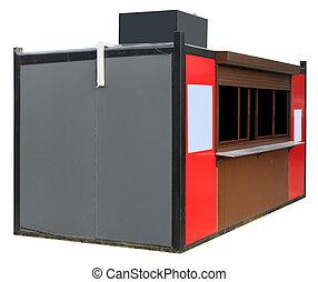New metal Street Booth, in denen Fast Food verkauft
