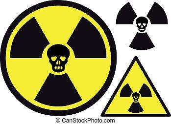 Nuklearsymbol mit Schädel