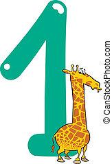 Nummer eins und Giraffe