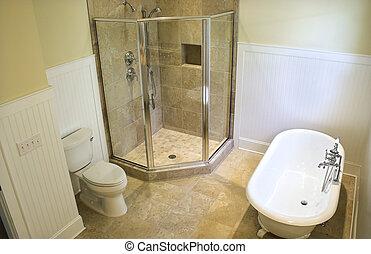 Oben im Badezimmer