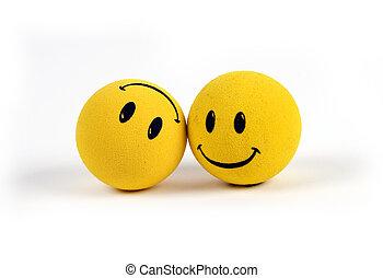 Objekte - gelbe Smileys
