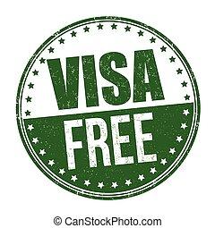 oder, zeichen, visum- stempel, frei