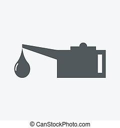 oel, lubricator, ikone