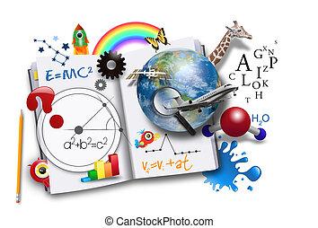 Offenes Lernbuch mit Wissenschaft und Mathematik