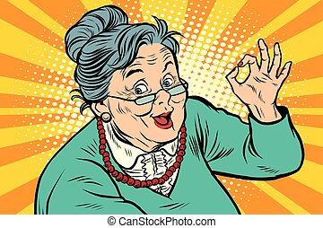 Oma, okay, die Alten