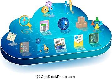 Online Business Process Management in Cloud Application. Konzept