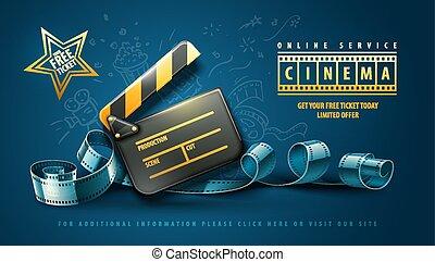 Online-Kinokunst-Film-Poster-Design