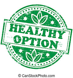 option, briefmarke, gesunde