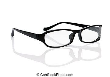Optische Brille isoliert auf dem weißen