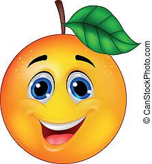 Orange Cartoon Charakter.