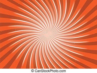 Orange runde Drehung