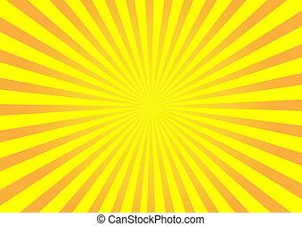 Orange Vektor-Sonnenverbrechen im Hintergrund