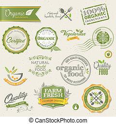 Organische Etiketten und Elemente